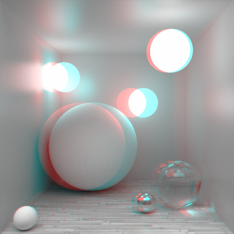 Box Of Spheres Anaglyph